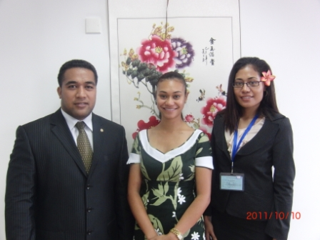 Samoa MFAT officials attend Diplomatic Course for the Protocol Department Officials